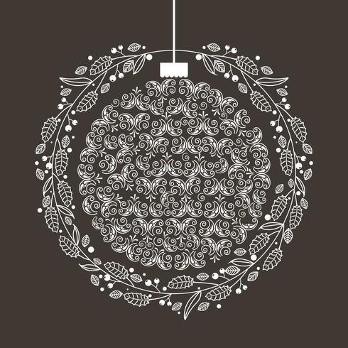 merry christmas ornament decoration vector
