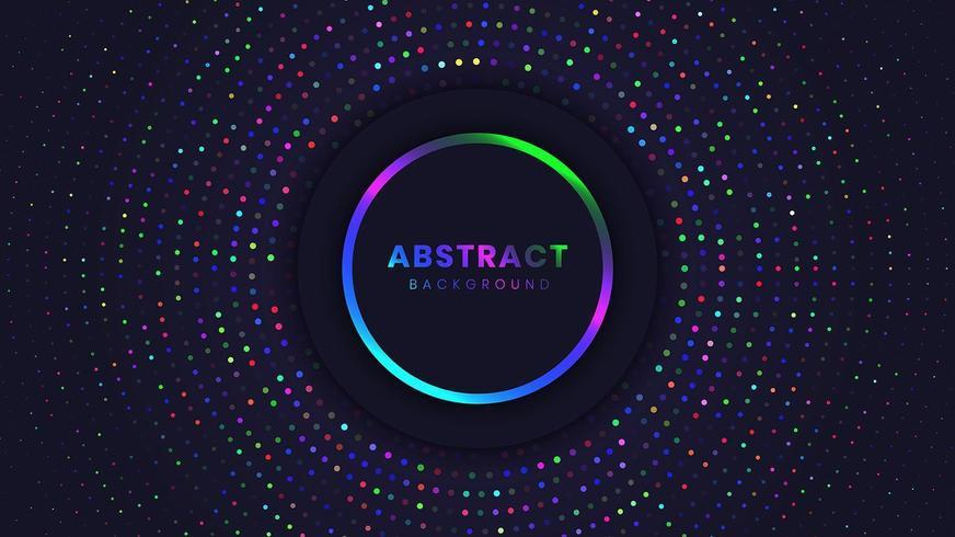 Fondo abstracto con círculos de luz vector