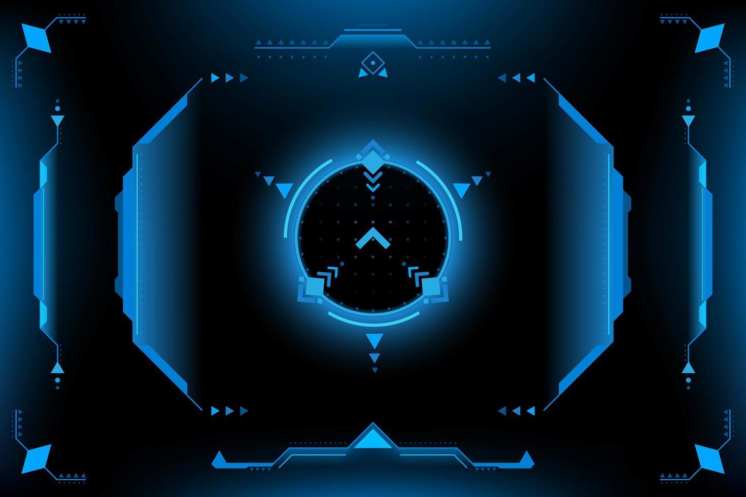 HUD-paneel VR Gebruikersinterface vector