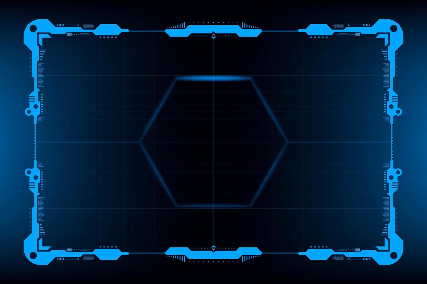 Painel HUD VR Interface do usuário vetor