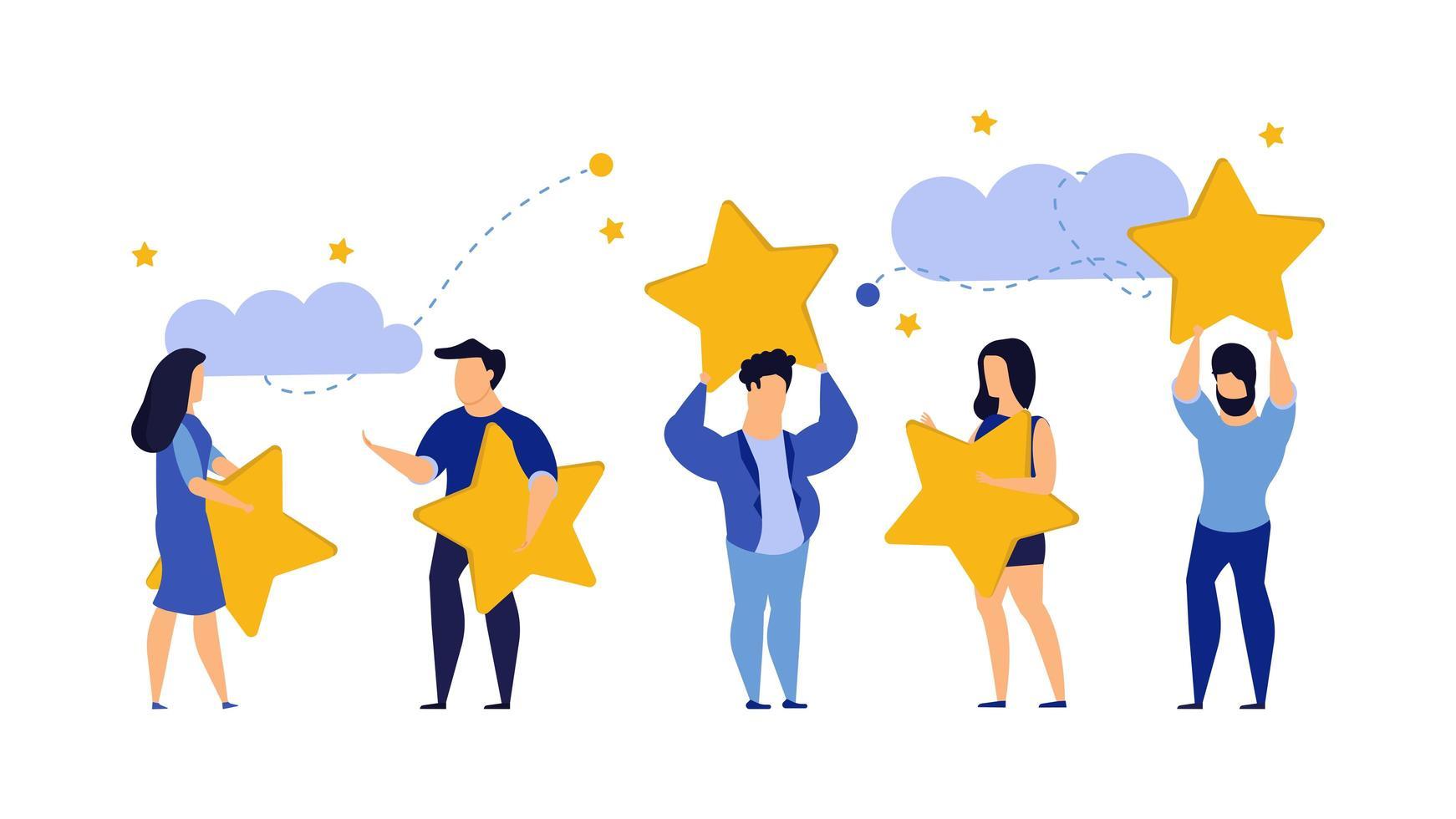 Ilustração de cinco estrelas de escolha do cliente vetor