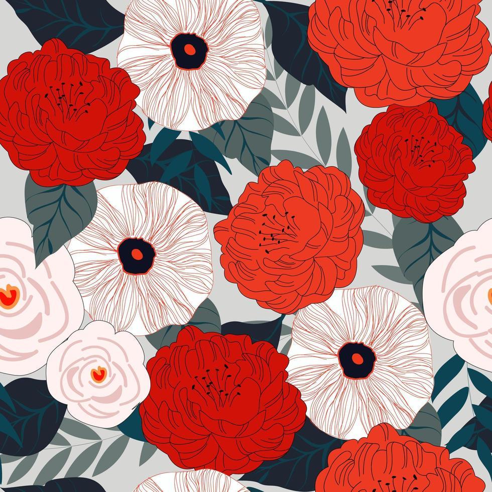 Patrón sin costuras de flores vector