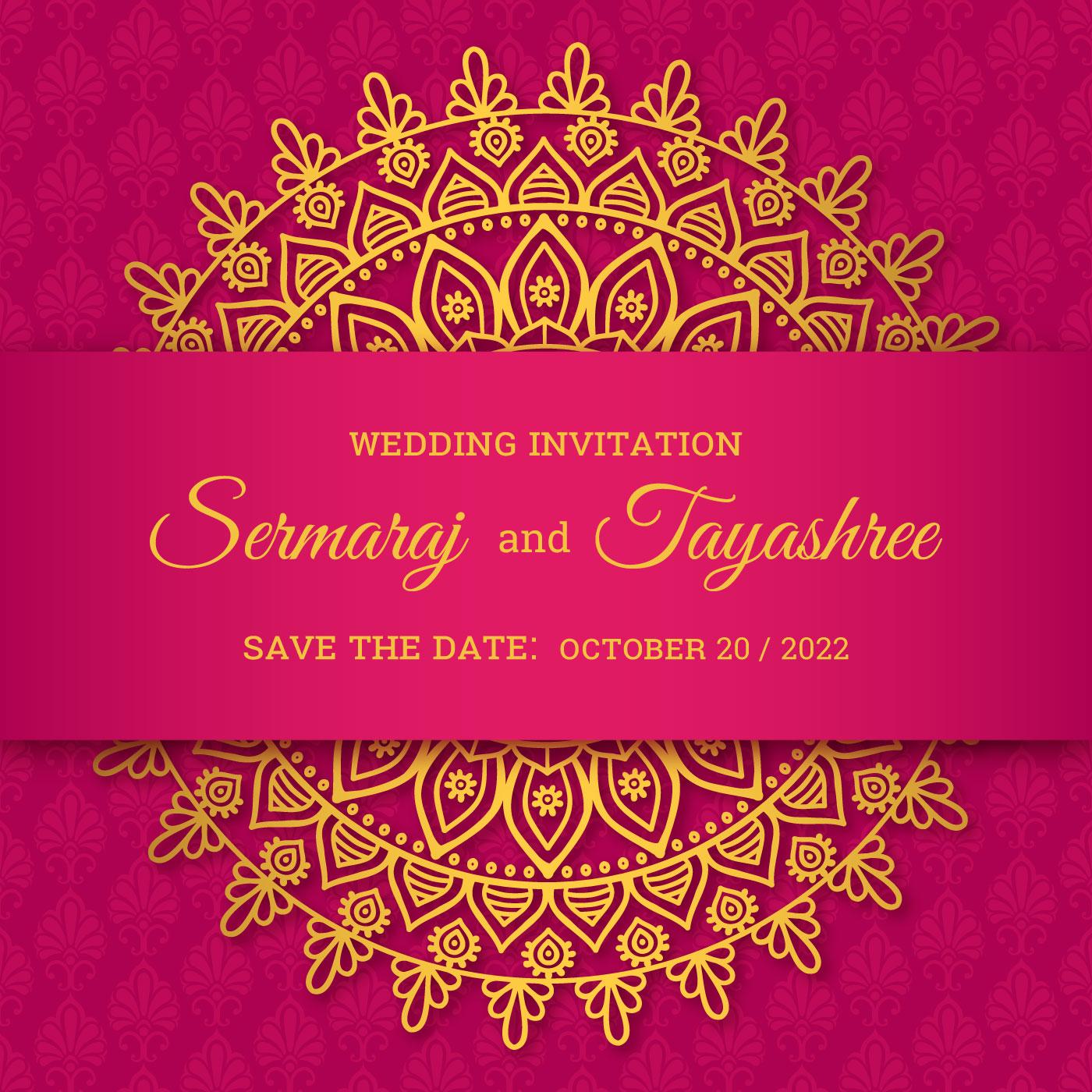 mandala hindu wedding card vector  download free vectors