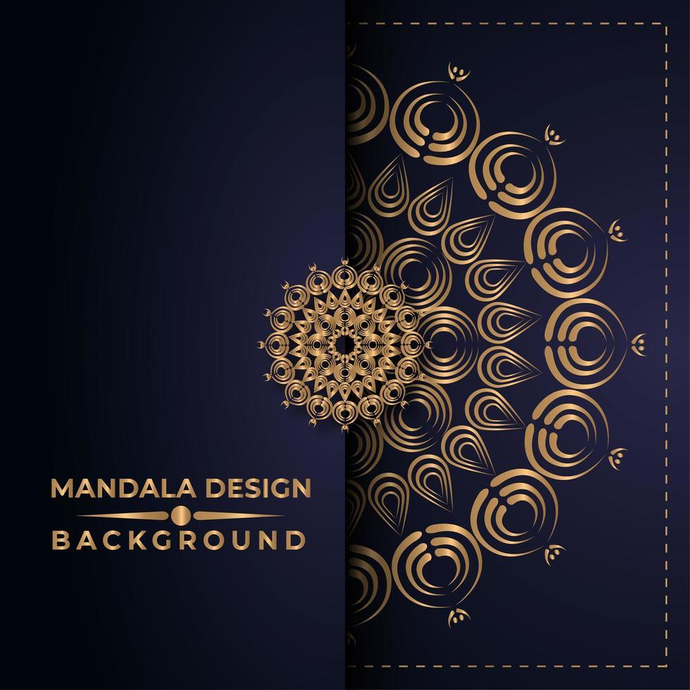 diseño de mandala dorado vector