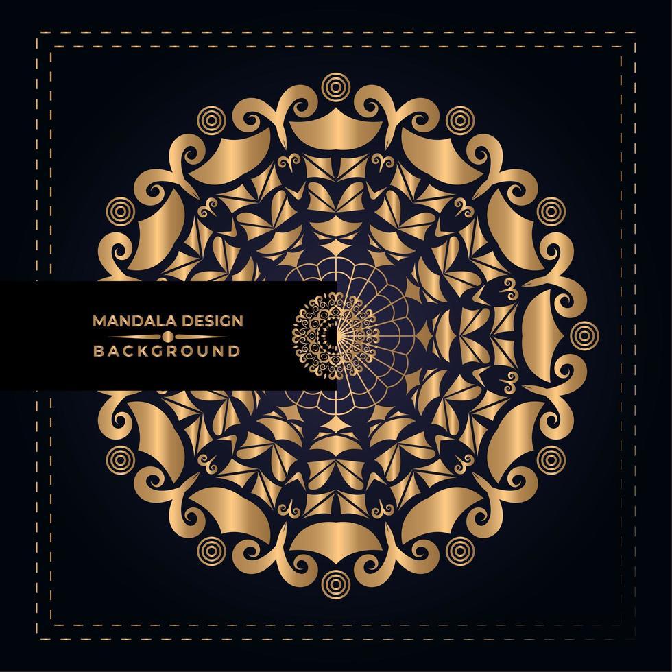 Golden Mandala Design vector