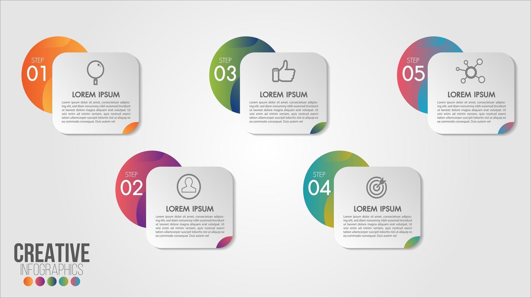 5 infografía empresarial numerada vector