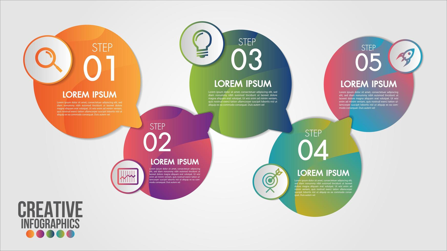 Cronología de la infografía empresarial vector