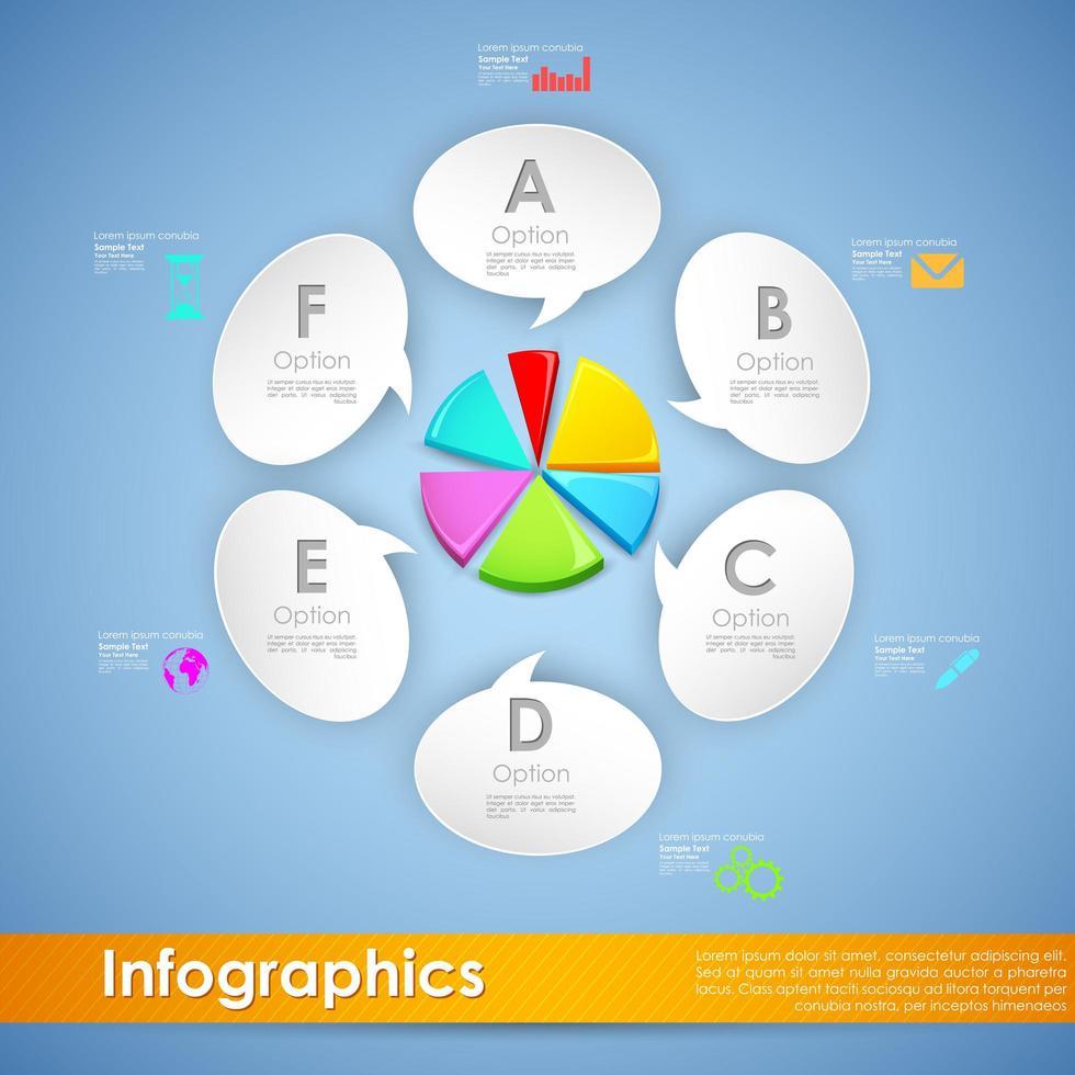 Infographics moderno del diagramma a torta di affari
