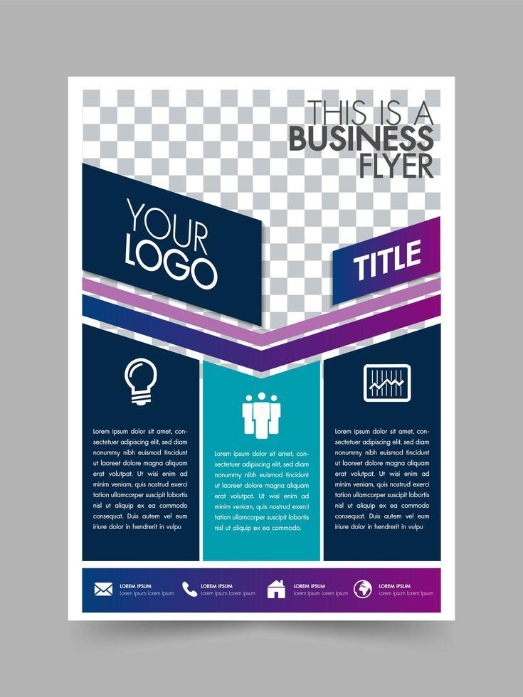 Modelo de layout do negócio brochura flyer design cartaz vetor
