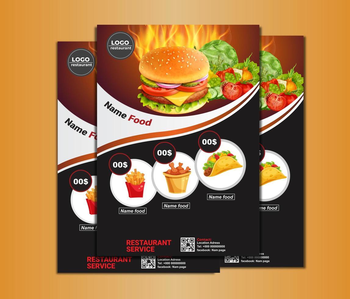 Food Brochure Menu Template