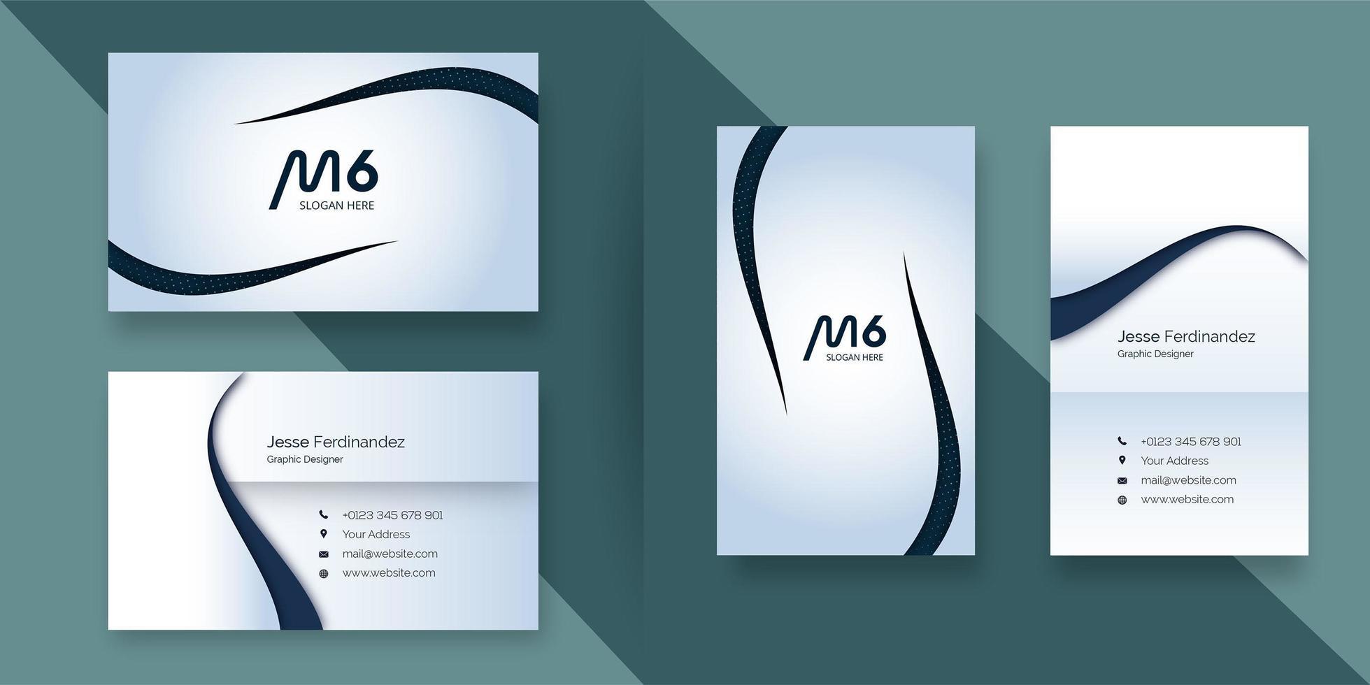 Modelo de cartão de negócios corporativo moderno de cor clara vetor