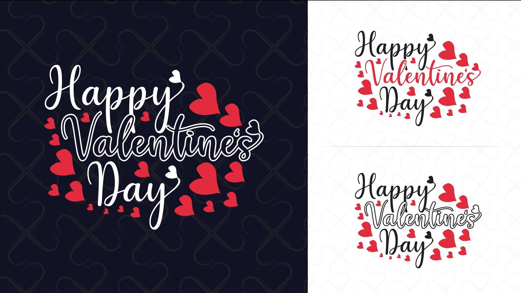 Typographie Happy Valentines Day