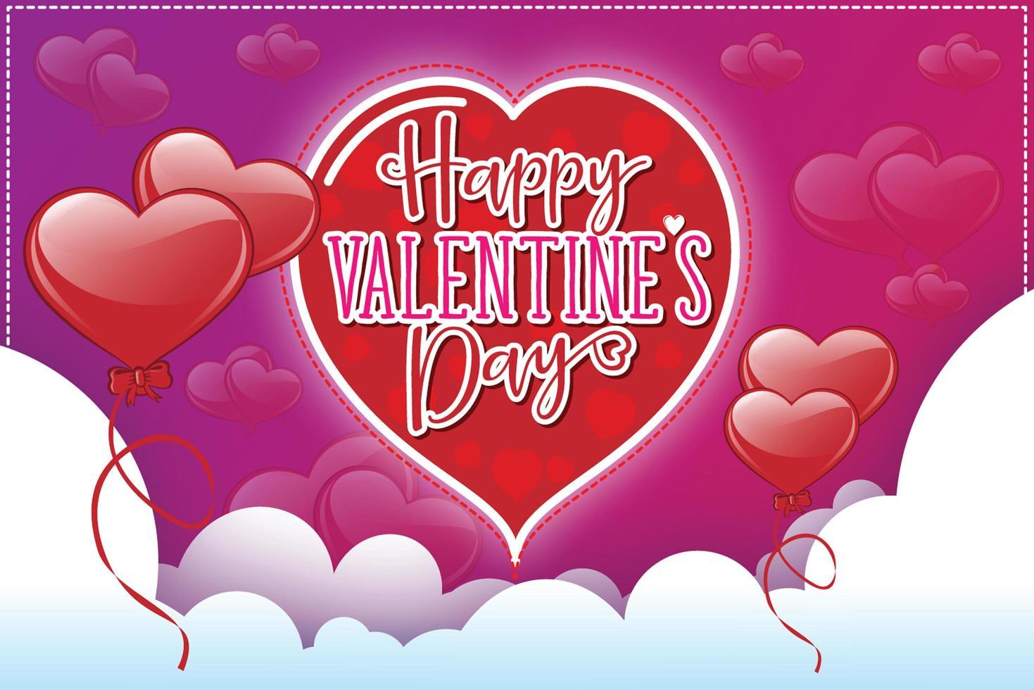 Valentine's day design vector