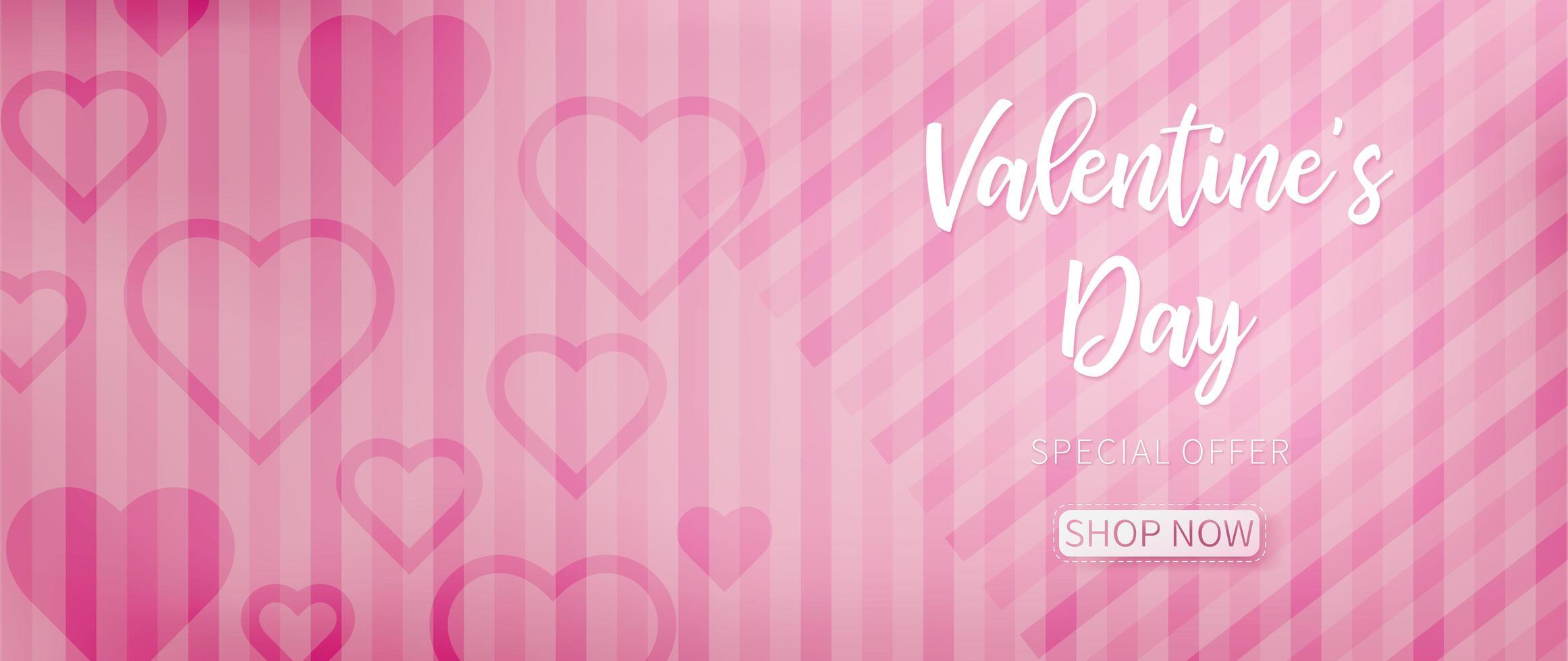 Rosa valentinbakgrund med rosa abstrakt mönster vektor