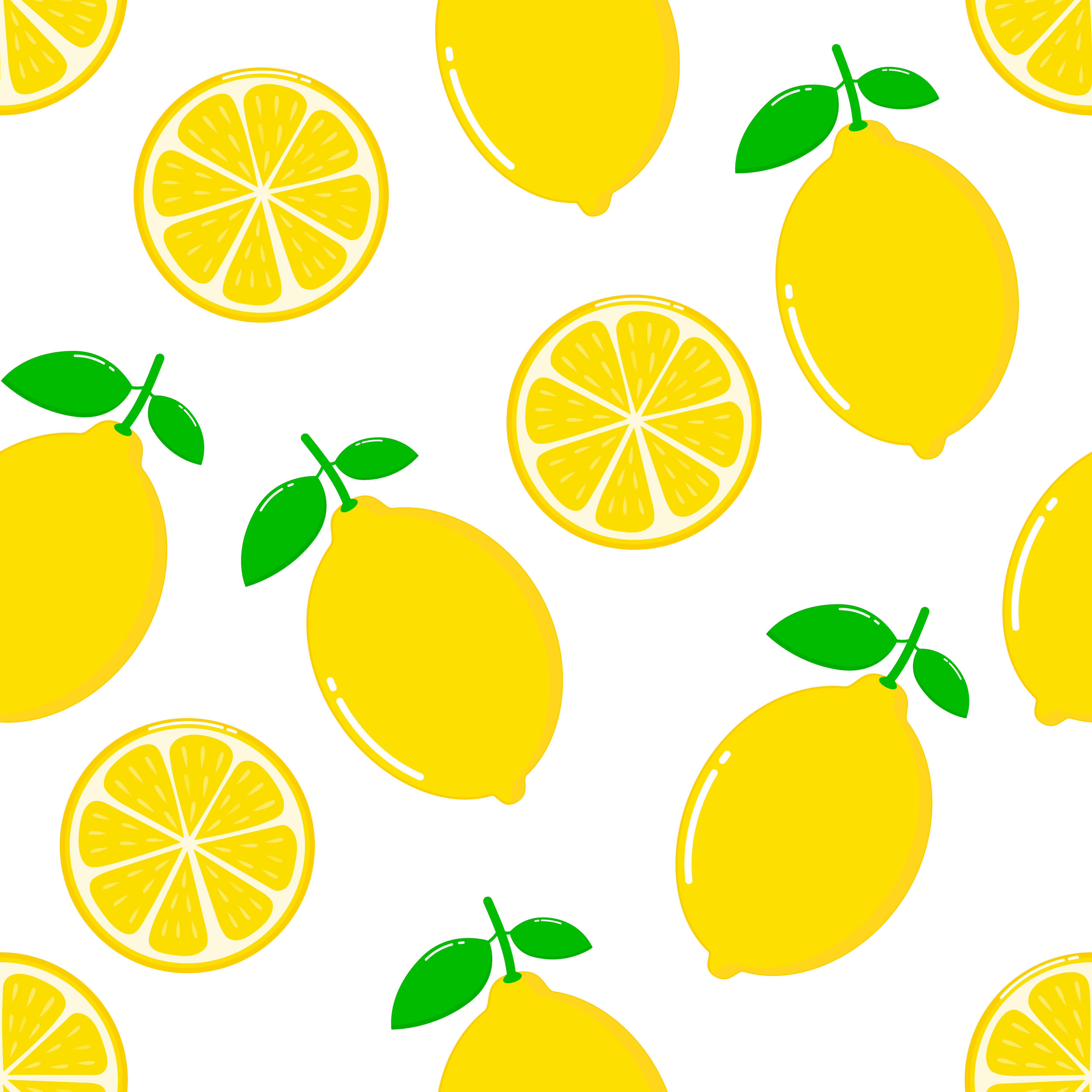 lemon slices seamless pattern on white background download free vectors clipart graphics vector art vecteezy