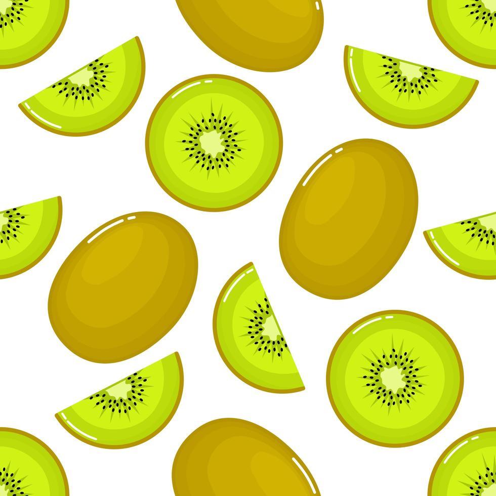 kiwi Seamless mönster och skivor vektor