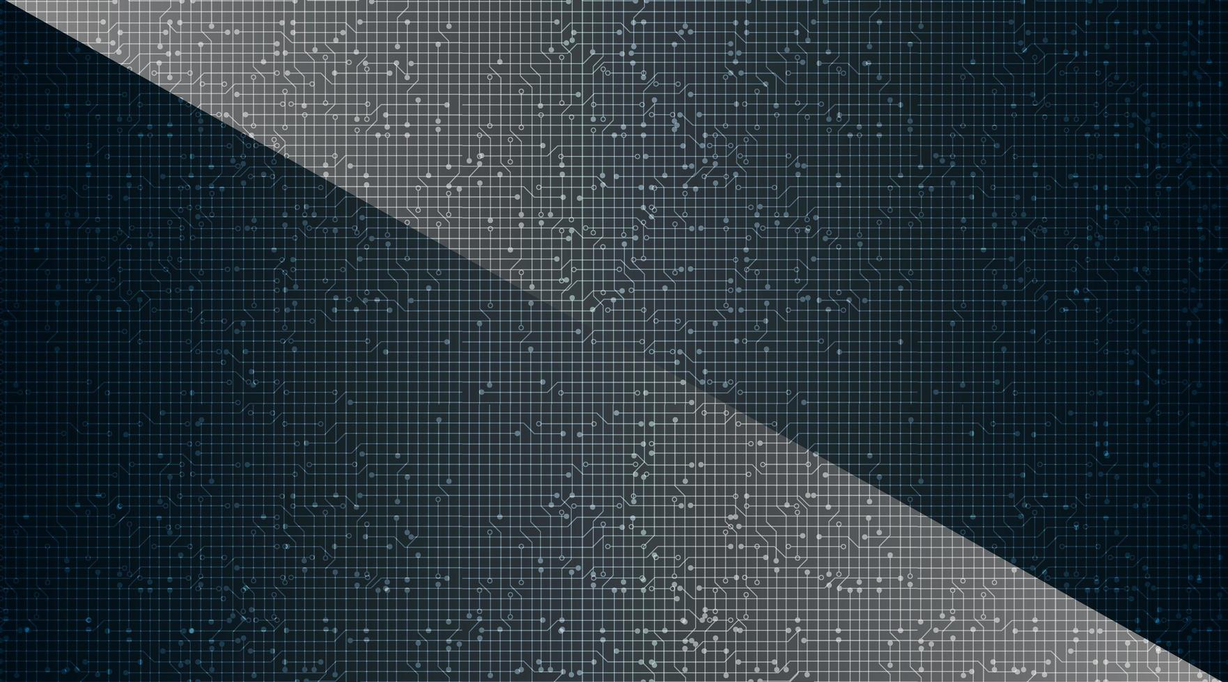 Mörk mikrochip på teknologibakgrund. vektor