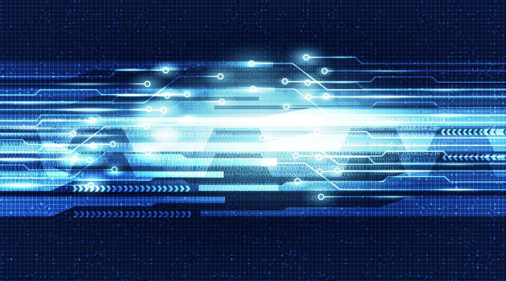 Ljus futuristisk digital krets med nätverksteknologibakgrund. vektor