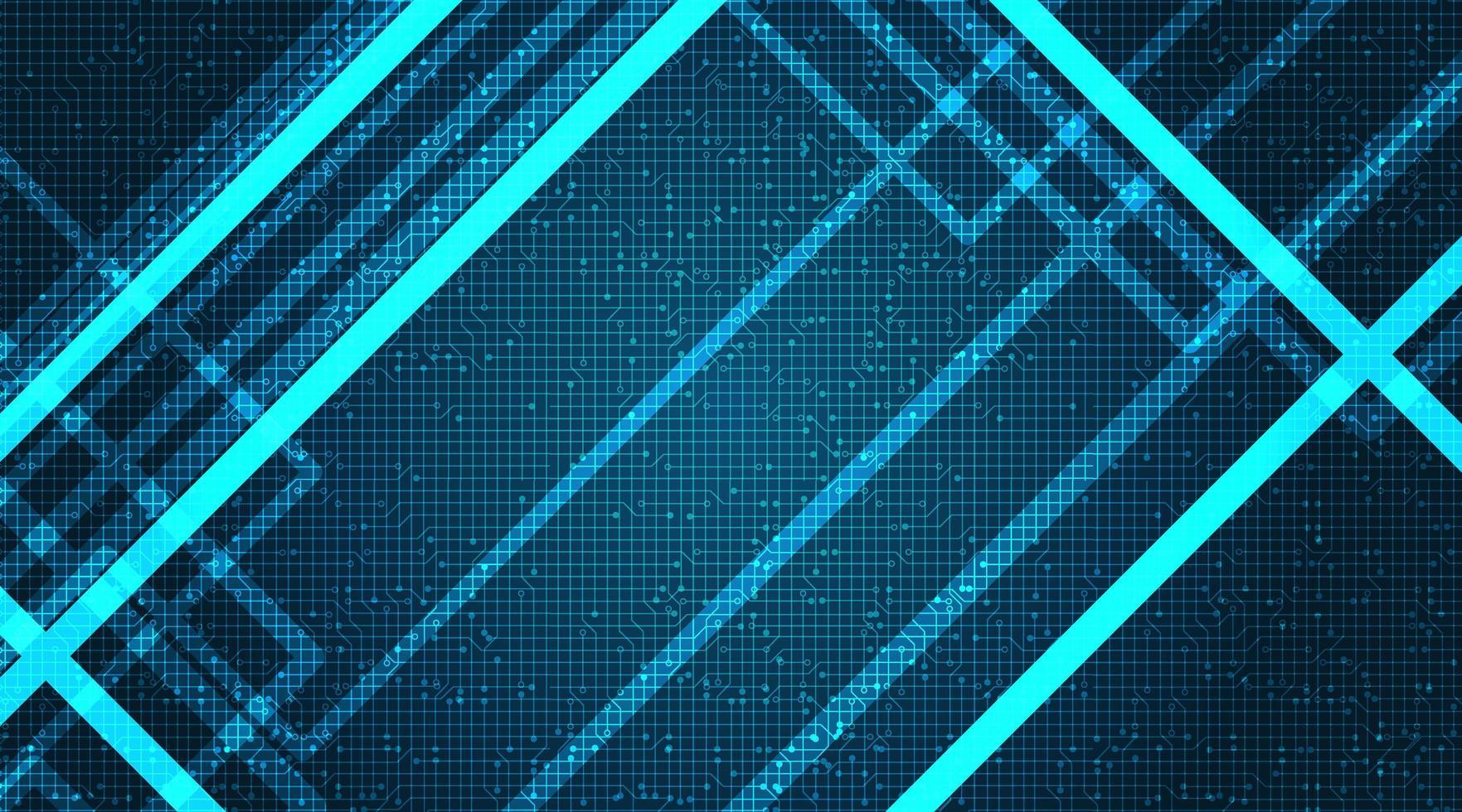 Circuit licht technologie achtergrond met schuine lijnen vector