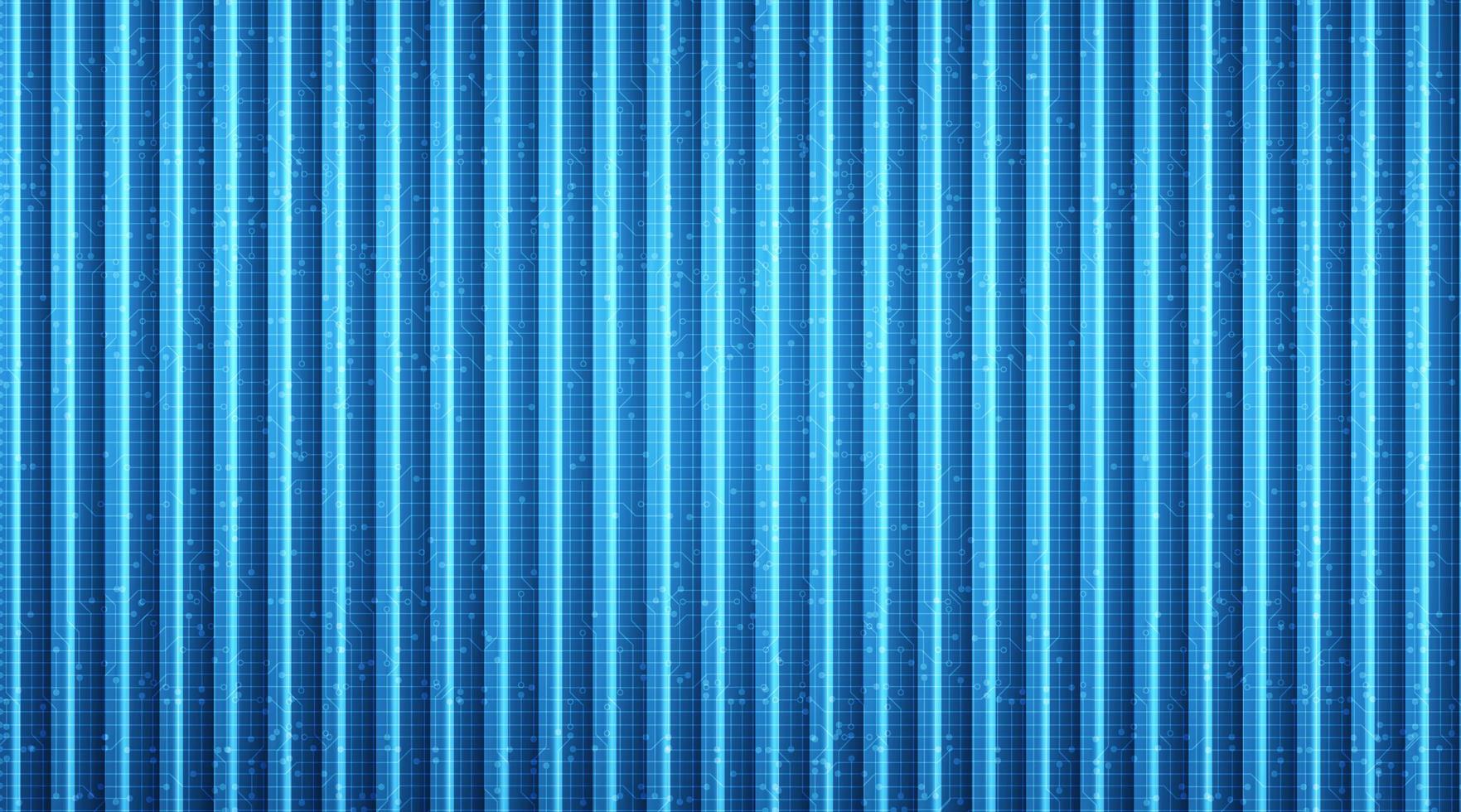 Neon Line Technology Microchip-bakgrund. vektor