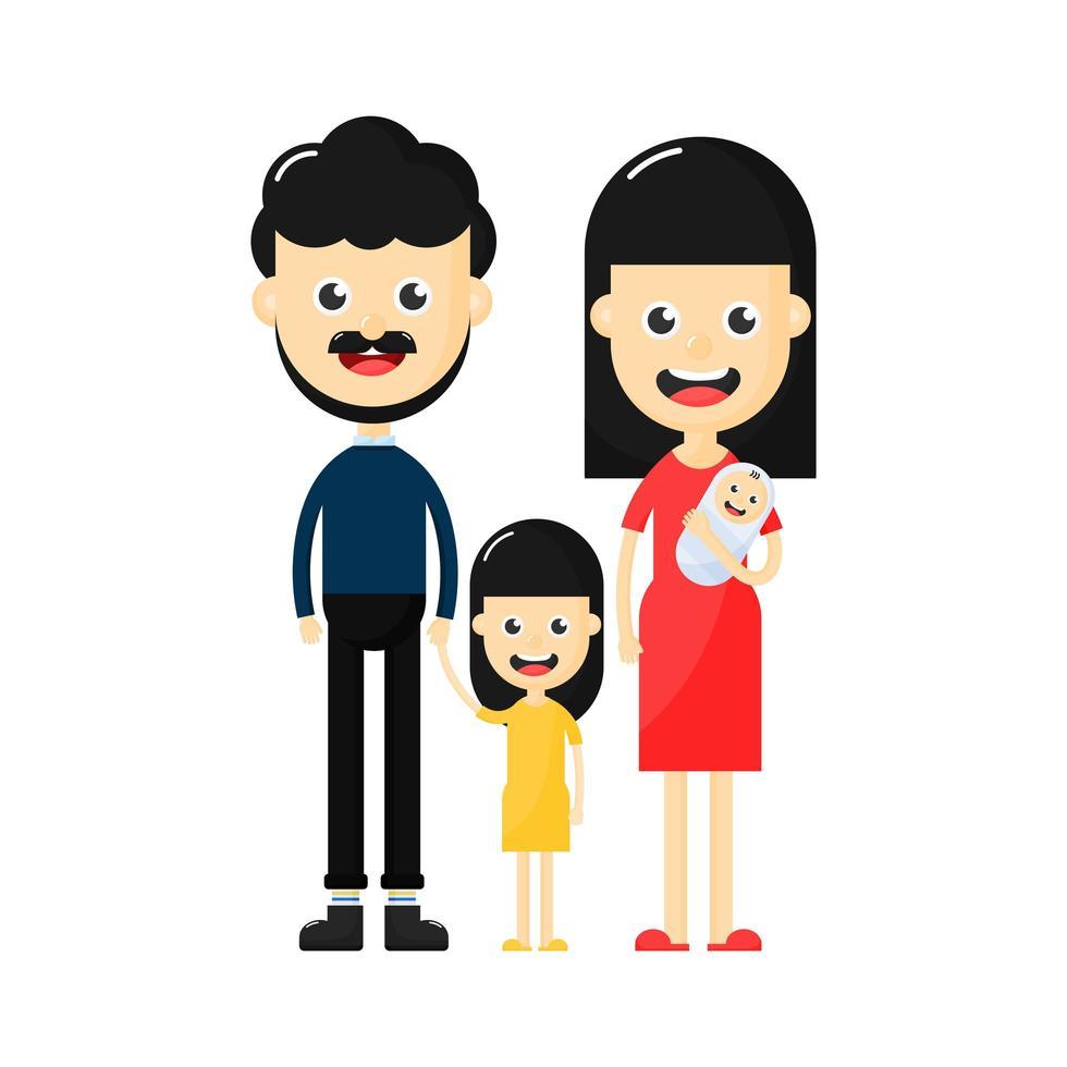 Personajes familiares felices vector