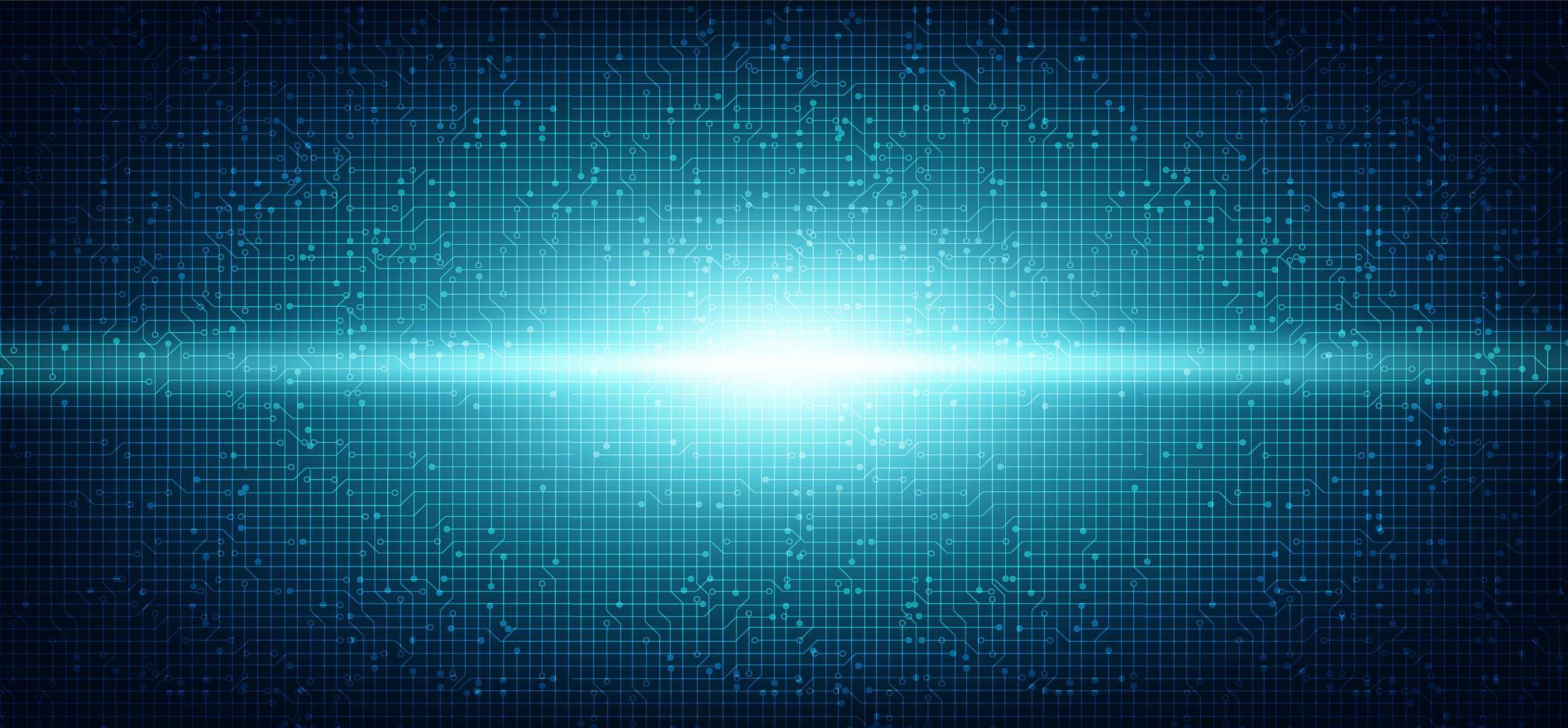 Digital Light Circuit Microchip auf Technologie-Hintergrund. vektor