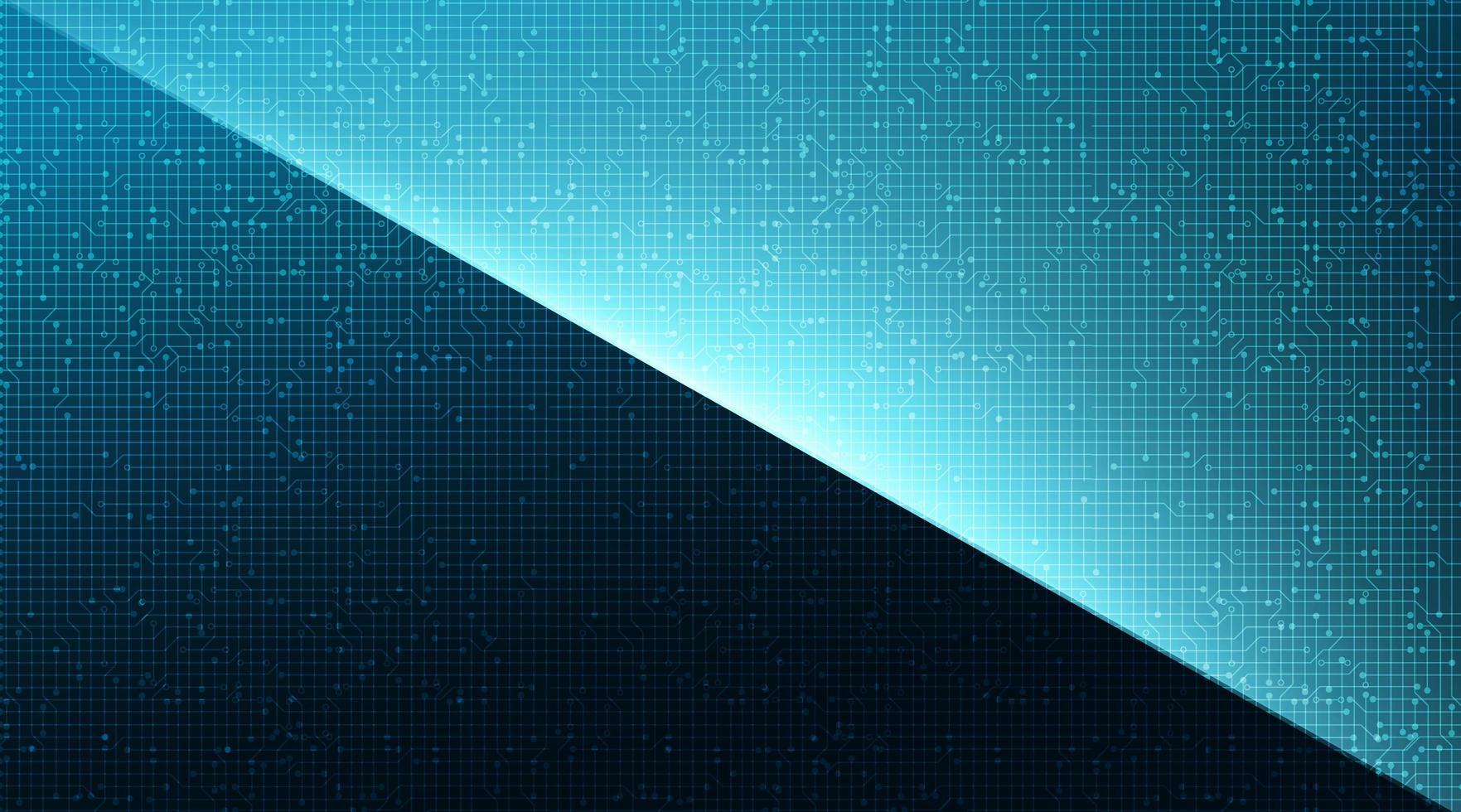 Mörk och ljusblå vinklad teknologibakgrund. vektor