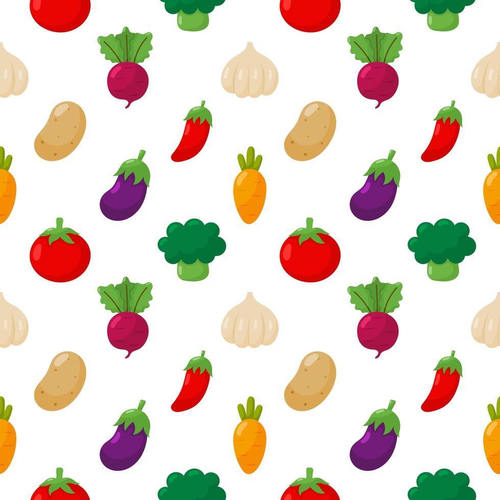 Gemüseikonen stellten nahtloses Muster ein