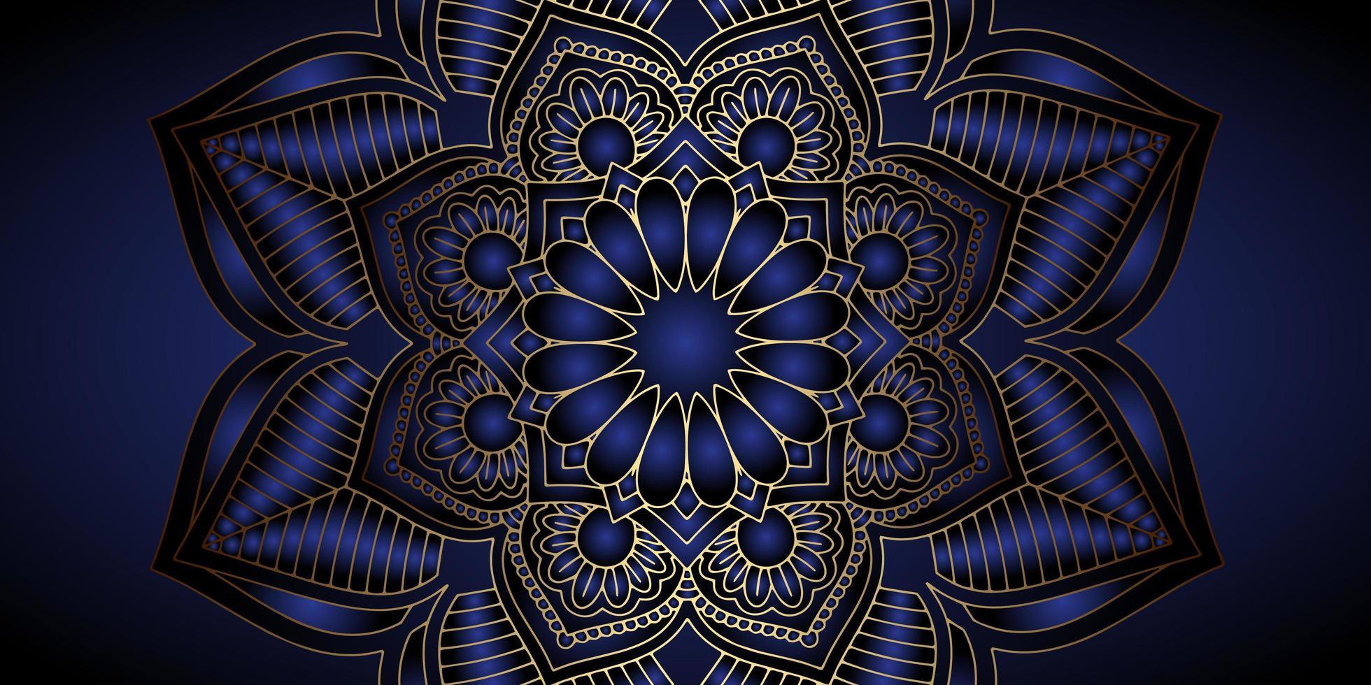Dekorativ mandala banner design vektor