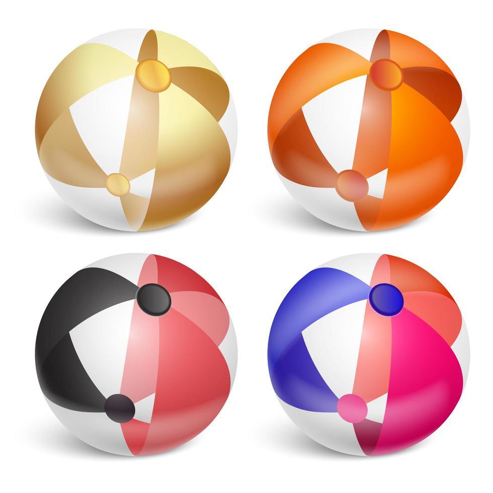 juego de pelota de playa inflable vector