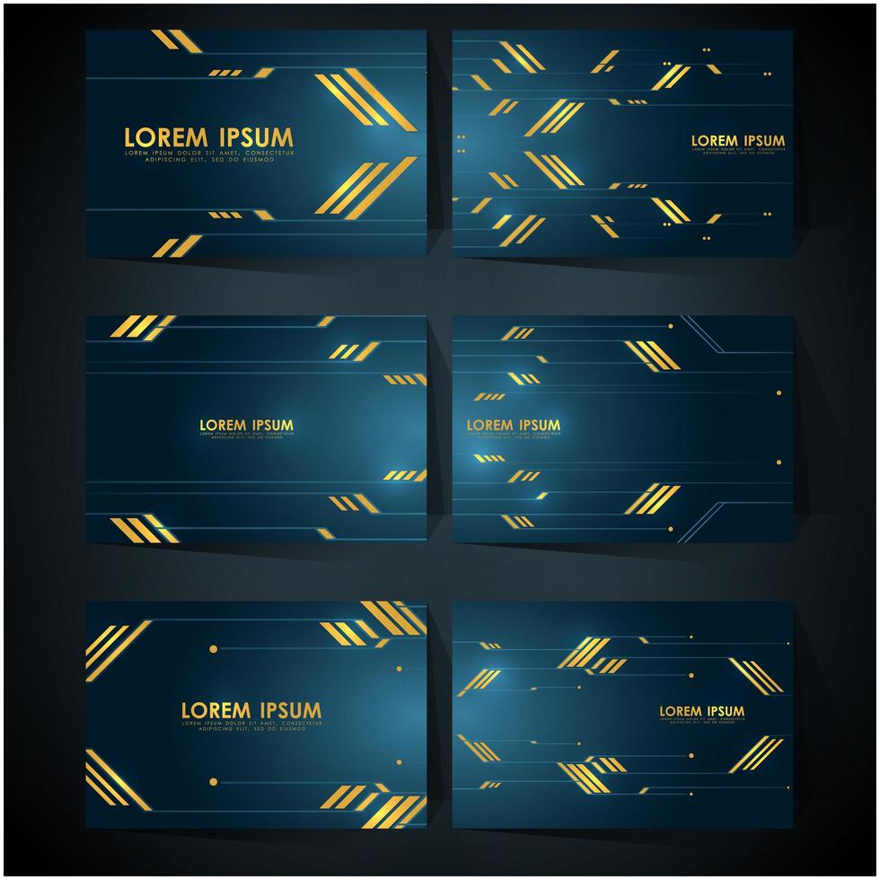 luxury technology business card template vector