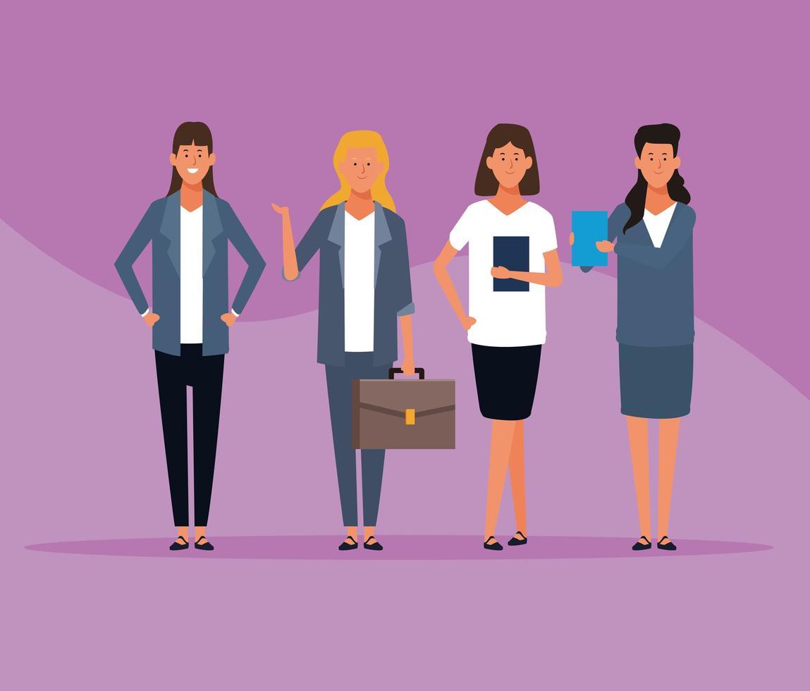 affärskvinnor grupp vektor