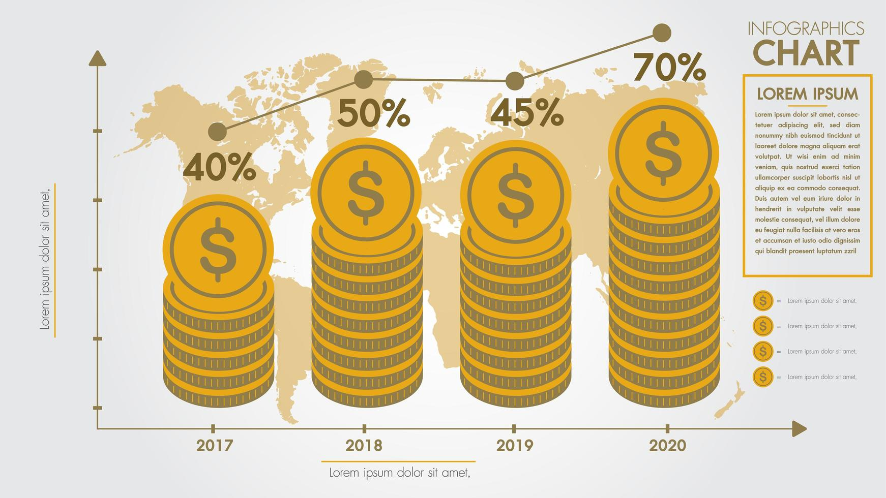Pengar infographics designkoncept vektor