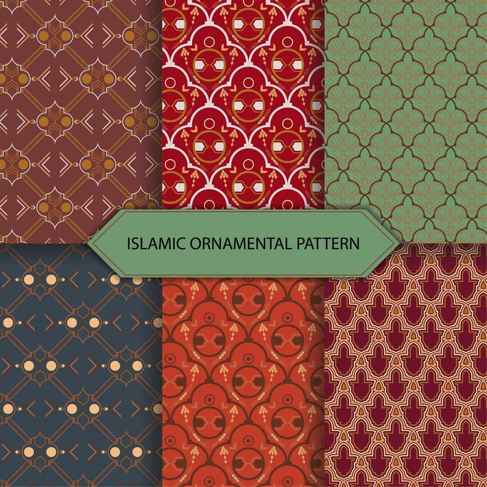 Islamiskt formmönster vektor