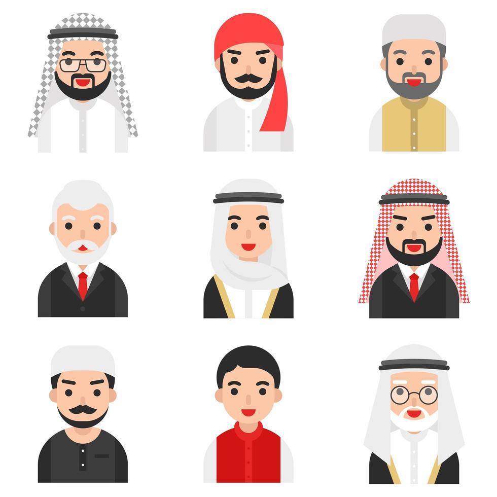 Set moslim mannen tekens vector