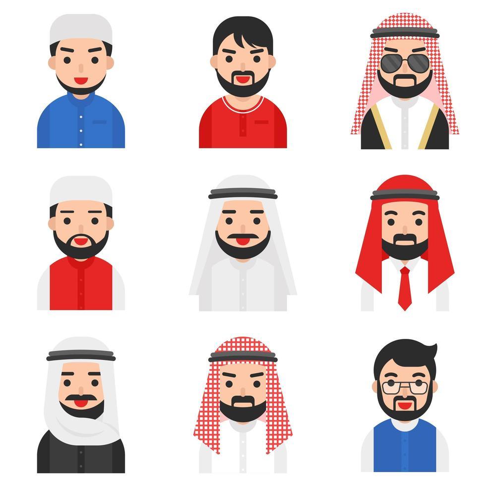 Ensemble de vecteur d'hommes musulmans
