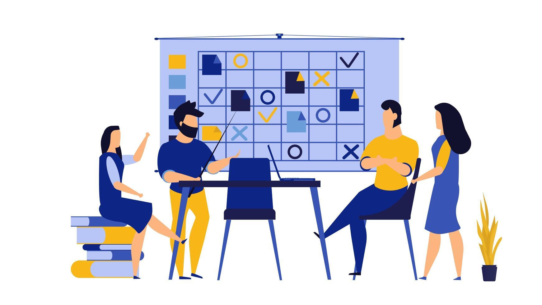 Teamwork entreprenörskap kontor koncept vektor