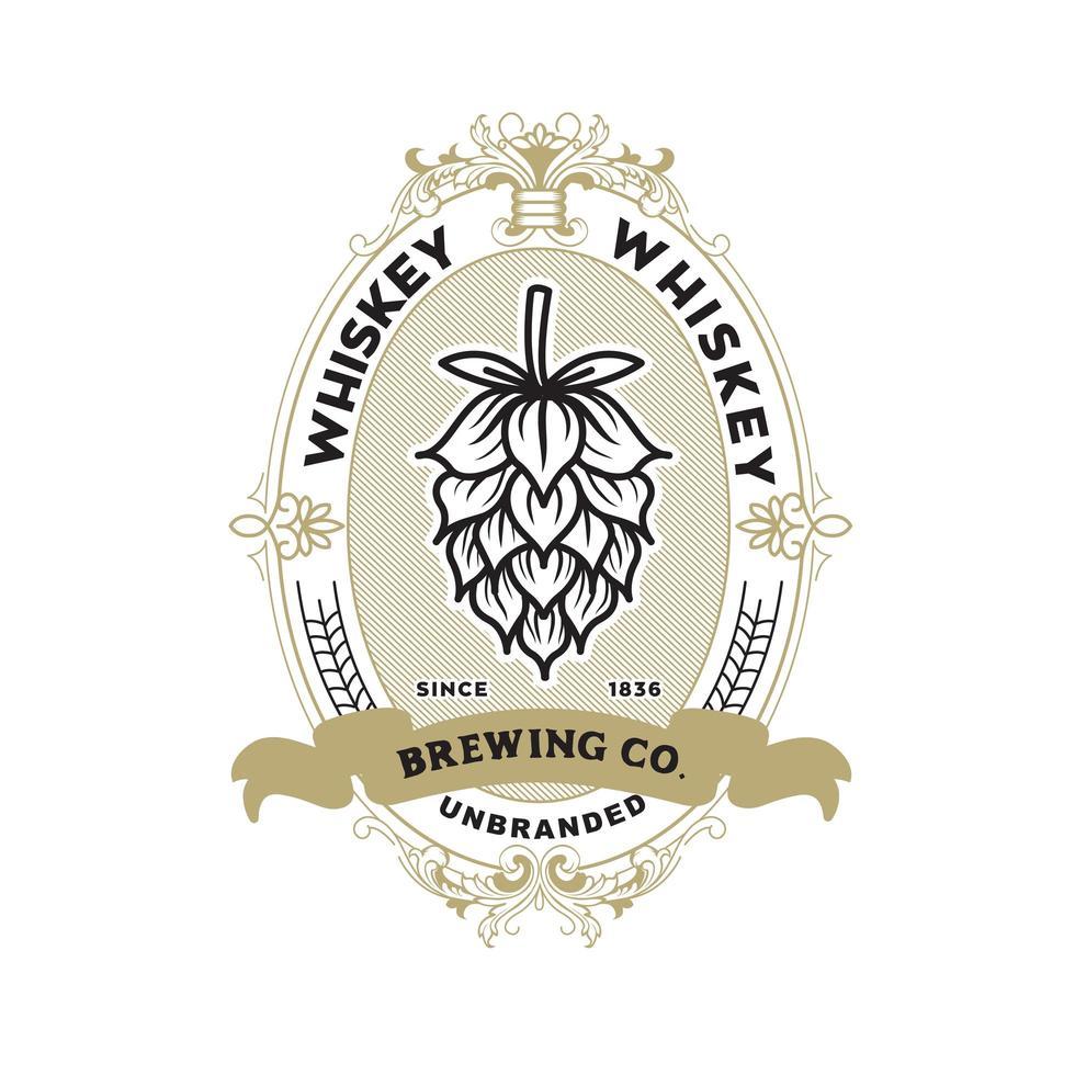 whisky etikett designmall vektor