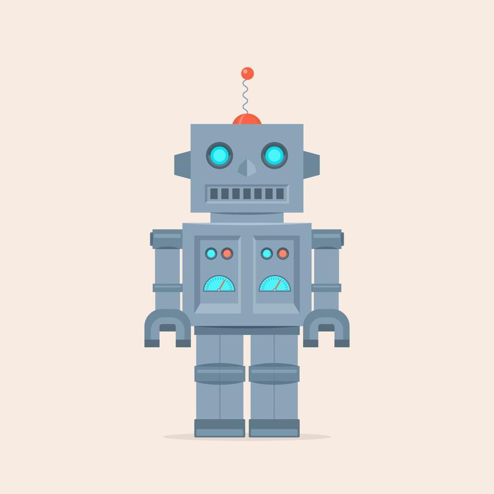 Retro robotvektorillustration vektor
