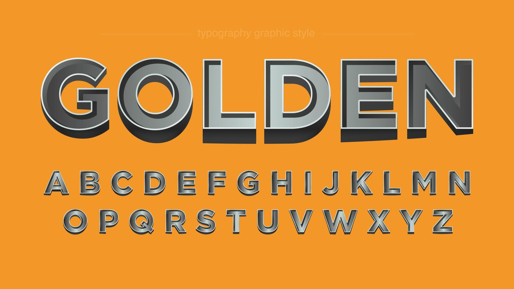 Chrome Metallic Bold 3D Typography
