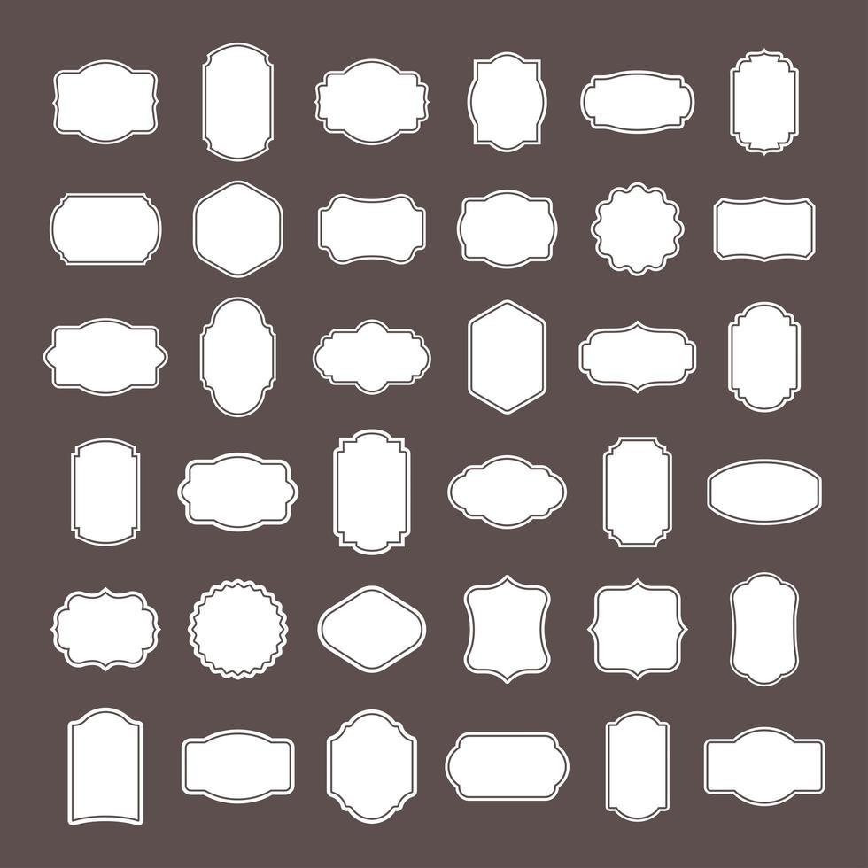 Vintage Frames Set vector