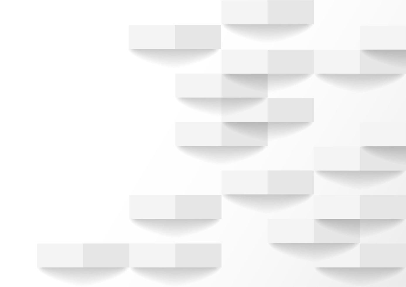 Perspective de briques blanches et grises avec ombre vecteur