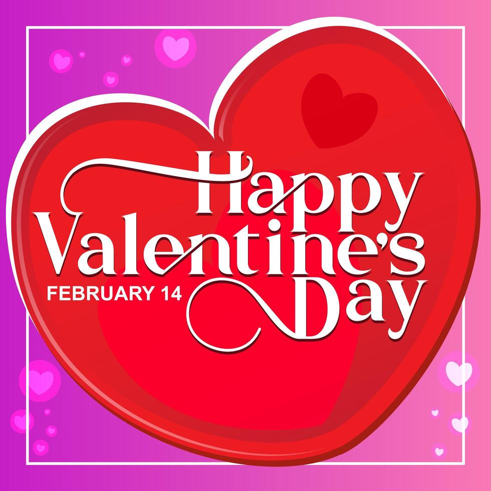 Happy Valentine's Day elegant text style in Heart vector