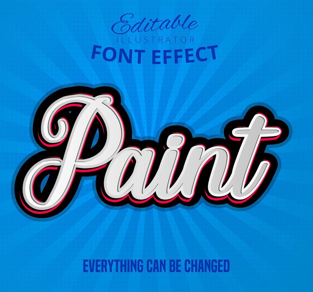 Dipinge il testo dell'effetto del carattere vettore