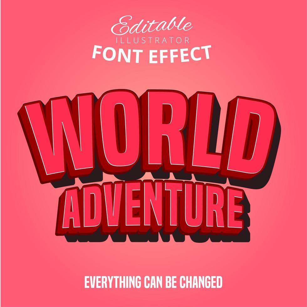 Texto de aventura mundial vetor