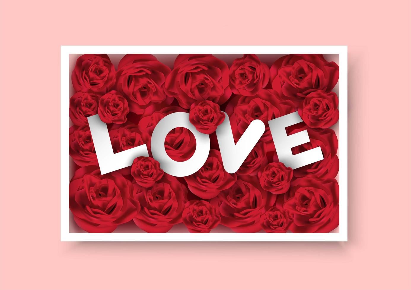 Valentine's box of roses with Love text inside - Download Free Vectors, Clipart Graphics ...