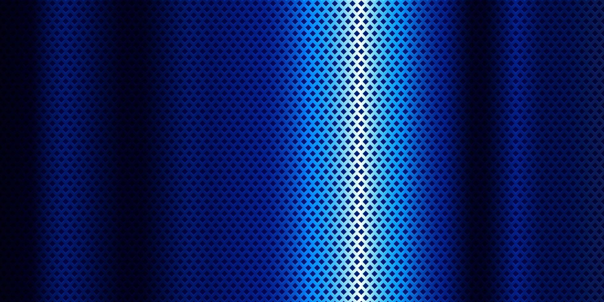 Estandarte azul metálico con diseño de diamante vector