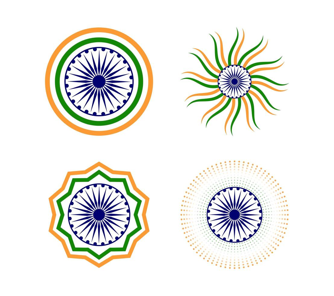 Happy Indian Republic day element set vector