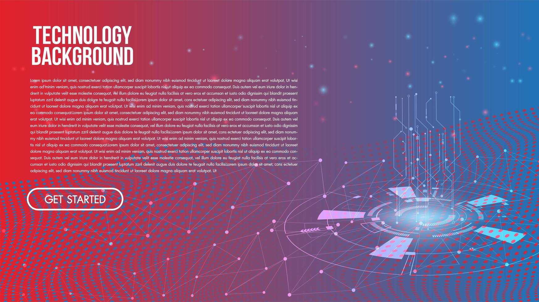 Abstract technology background Hi-tech communication concept vector