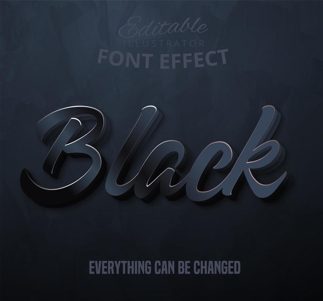 Zwarte tekst lettertype effect vector